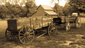 Old wagons Royalty Free Stock Image