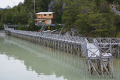 Old Walkway, Chilean Patagonia Stock Photos