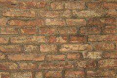 Old wall. Made of bricks Stock Photos