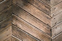 Old wall. Wall of an old house of a department a wooden planks Stock Photo