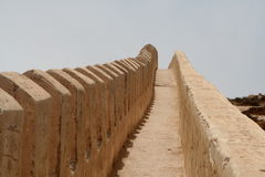Old wall. As part of ruins in Agadir Stock Image
