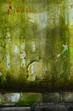 Old wall. Textured old and dirty green wall Stock Photography
