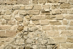 Old wall. Fragment of old brick wall royalty free stock photo