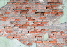 Old wall. From orange bricks royalty free stock photo