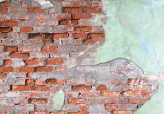 Old wall from. Orange bricks royalty free stock images