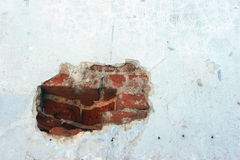 Old wall. With hole Royalty Free Stock Image