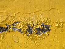 Old wall. Old yellow wall Royalty Free Stock Photography