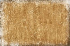 Old wall abstract sepia grunge background, brown broken cement brick banner royalty free stock photos