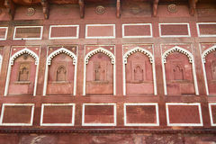 Old wall of Agra Fort in India Stock Photos