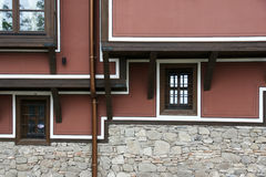 Old wall. Wall of the ancient Bulgarian town of Plovdiv Stock Images