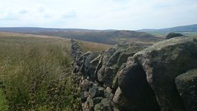 Old Wall. Ancient wall in the Peak District Stock Photography