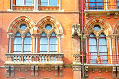 old wall architecture in  brick exterior Royalty Free Stock Images