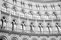 old wall architecture in london england windows and brick exteri Stock Images