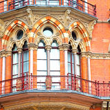 old wall architecture in london england windows and brick exteri Royalty Free Stock Images