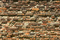 Old Wall Background. Old brick wall background Stock Images