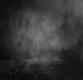 Old Wall Background With Fog. Old concrete wall background with grunge floor for ideas to add into copy space,Horror background Royalty Free Stock Image