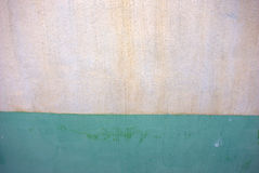 Old Wall Background. Green and white back ground stucco wall Stock Photos