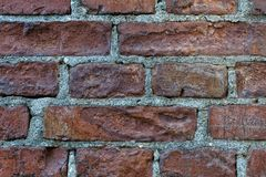 Old wall background with rough brown brick. Wide photo for web site slider. Old wall background with rough dark brown brick. Wide photo for web site slider Stock Photos