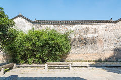 Old wall and bamboo Royalty Free Stock Images