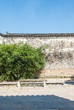 Old wall and bamboo Royalty Free Stock Image