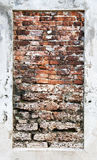 The old wall brick. Stock Image
