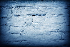 Old wall of brick background in moon light Royalty Free Stock Image