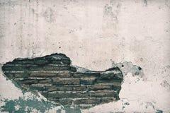 Old wall brick cracks art retro background Royalty Free Stock Images