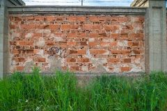 Buildings like abstract funds. An old wall of brick, suitable for textures and funds Royalty Free Stock Photography