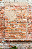 Old wall with bricked up windows Royalty Free Stock Image
