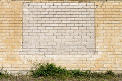 Old wall with bricked up windows Royalty Free Stock Images