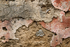 Old wall bricks and cracked cement background Stock Photos