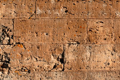 Old wall of bricks dull colors. Royalty Free Stock Photography