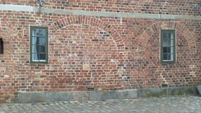 Old wall. Wall of building at Frederiksborg castle, Denmsrk Stock Images
