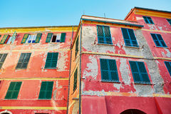Old wall of a building in Italian town Stock Photography