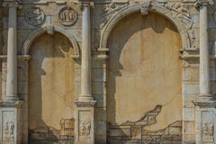 Old wall building. With shadows Royalty Free Stock Images