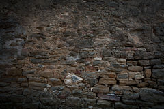 Old wall, built of different brick Royalty Free Stock Images