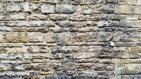 A old wall of a castle. Ancient brick work makes up this wall of a castle in Italy Royalty Free Stock Photos