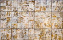 Old wall ceramic tiles patterns handcraft. From thailand parks public Royalty Free Stock Photos