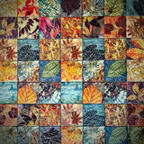 Old wall ceramic tiles patterns handcraft from thailand parks public. Art Stock Images