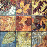 Old wall ceramic tiles patterns handcraft from thailand public. Old wall ceramic tiles patterns handcraft from thailand public Stock Image