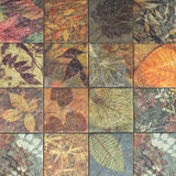Old wall ceramic tiles patterns handcraft from thailand public. Old wall ceramic tiles patterns handcraft from thailand public Stock Photos
