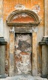 Old wall in church. Old wall with door in church (Italy royalty free stock photo
