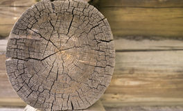 Old wall circle log close up Royalty Free Stock Photography