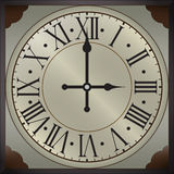 Old wall clocks with roman numbers Stock Image