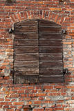 Old wall with closed door royalty free stock photos