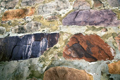 Old wall from colored stones Stock Image
