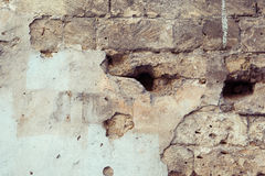 Old wall cracked concrete vintage texture. Outdoor background Stock Photo