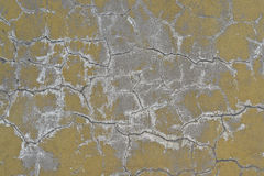 Old wall in cracked plaster. Stock Photos