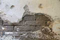 Old wall with cracks background Stock Photos