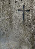 Old Wall With Cross Stock Image